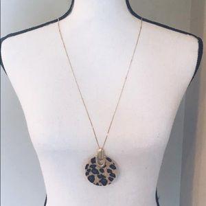 Leopard pendant necklace